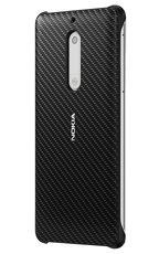 Etui Nokia Carbon Fibre Design Case CC-803 Czarne do Nokia 5