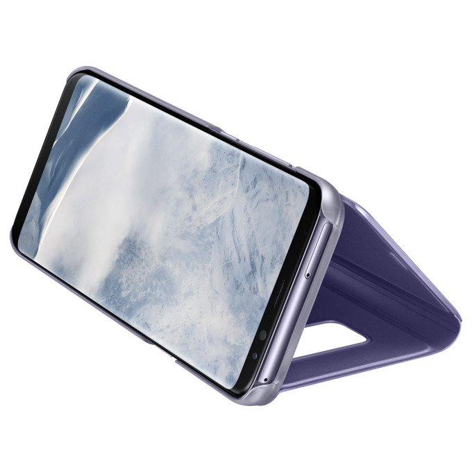 Etui Samsung Clear View Standing Cover do Galaxy S8 Fioletowe (EF-ZG950CVEGWW)